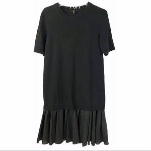 COS Paneled Layered Cotton Sweater Dress